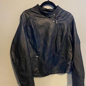 Torrid size 2 faux leather bomber jacket